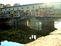 Beautiful Florence and the Arno River Ponte Vecchio